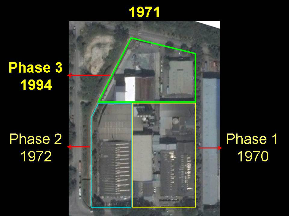 In 1971, SIB acquired an additional 5 acres of industrial land in Shah Alam for its Phase 2 (1972) and Phase 3 (1974) expansion plans.
